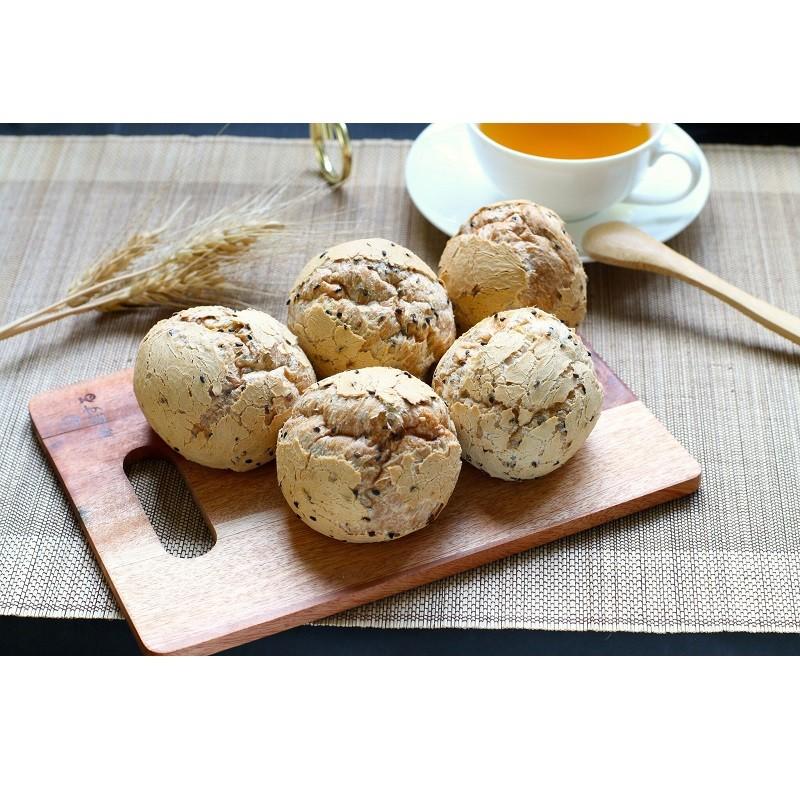 【美食村食品】Q匠麵包球(芝麻)440g(8入)/盒*24盒
