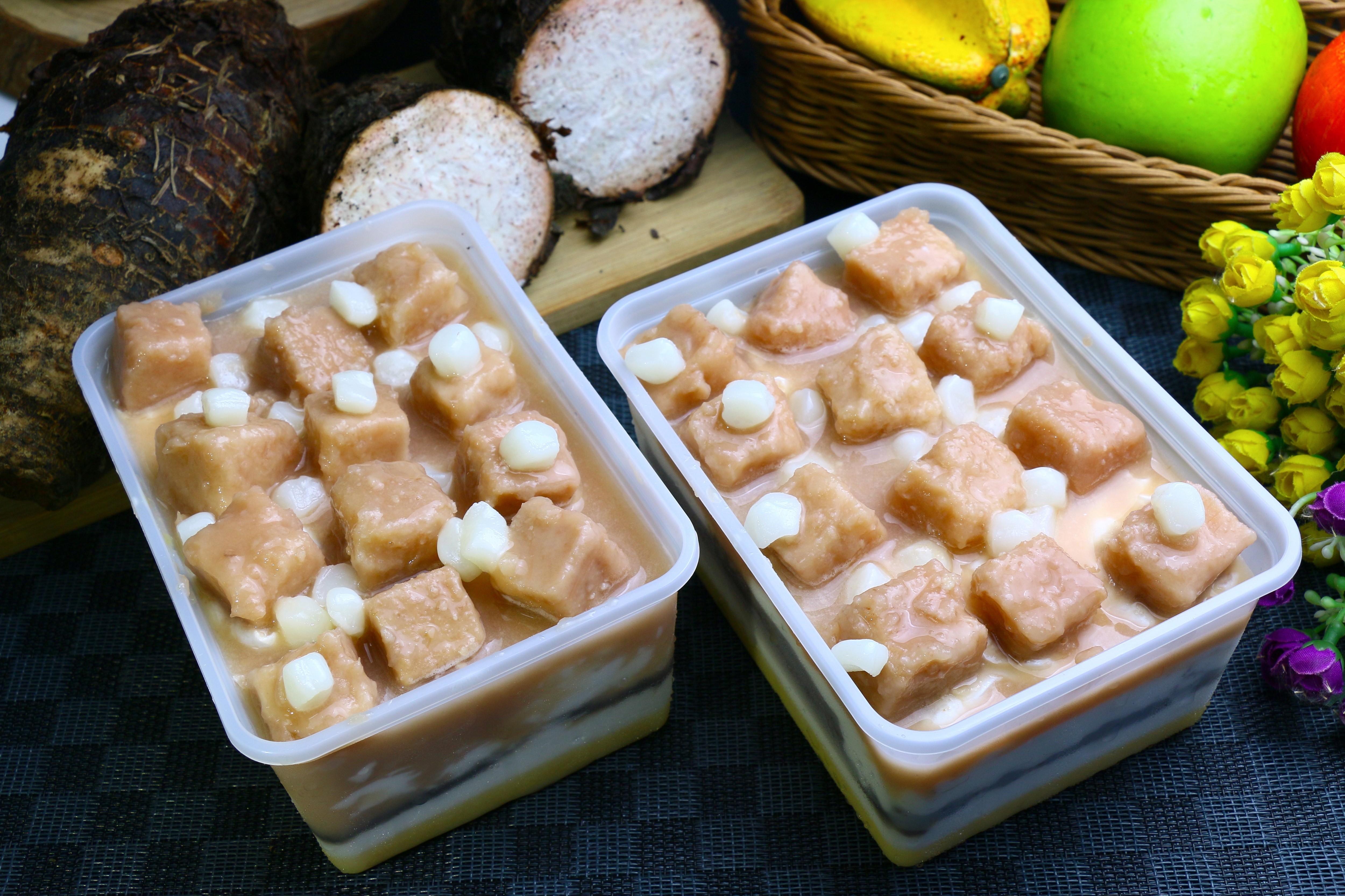 【美食村】蜜芋頭麻糬濃奶蛋糕盒 600g*15盒